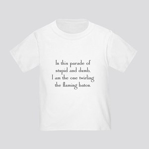 Flaming Baton Toddler T-Shirt