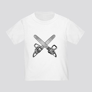 Crossed Chainsaws Toddler T-Shirt