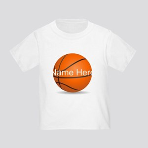 Customizable Basketball Ball Toddler T-Shirt