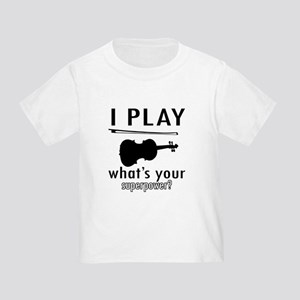 Cool Violin Designs Toddler T-Shirt