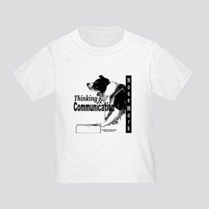 Nose work search border collie Toddler T-Shirt