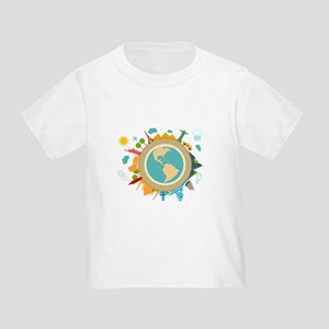 World Travel Landmarks Toddler T-Shirt