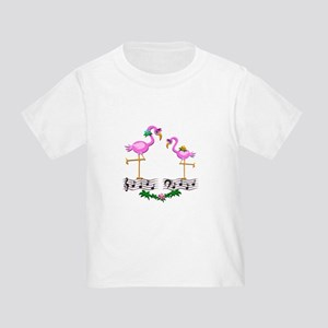 Dancing Pink Flamingos - Toddler T-Shirt