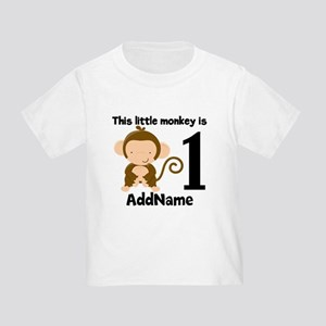 1st Birthday Monkey Personalized T-Shirt
