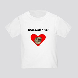 Custom Pug Heart T-Shirt