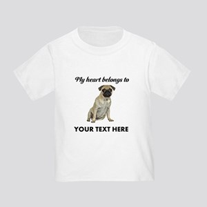 Personalized Pug Dog Toddler T-Shirt