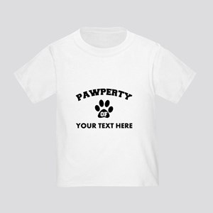 Personalized Dog Pawperty Toddler T-Shirt