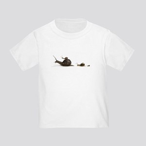 Snail Family (Front only) Toddler T-Shirt