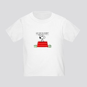 Crabby Snoopy Toddler T-Shirt