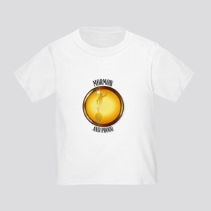 Mormon And Proud Button T-Shirt