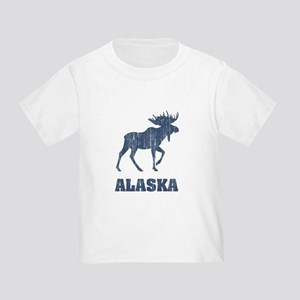 Retro Alaska Moose Toddler T-Shirt