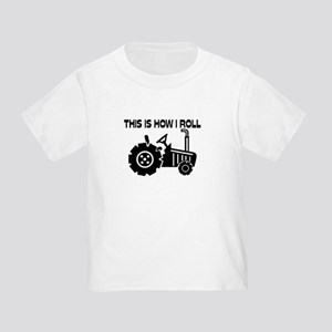This Is How I Roll Farming Tractor Toddler T-Shirt