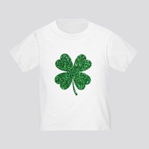 12195af6 Green Glitter Shamrock st. particks Irish T-Shirt