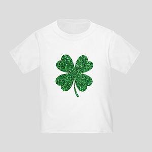 7ebc13508 Green Glitter Shamrock st. particks Irish T-Shirt