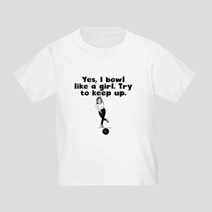 0430a2fd Funny Bowling Toddler T-Shirts - CafePress