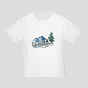 Sketch Mountain Scene T-Shirt