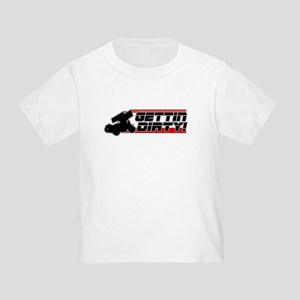 Gettin Dirty -Red Toddler T-Shirt