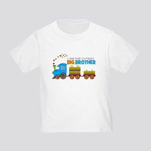 5099ed29 I am the Cutest Big Brother - Train T-Shirt