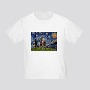 Starry Night / Tiger Cat Toddler T-Shirt