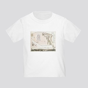 Vintage Map of Pompeii Italy (1832) T-Shirt