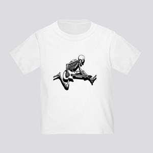 Skeleton Guitarist Jump Toddler T-Shirt