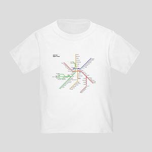 Osaka Subway Map T Shirt.Subway Toddler T Shirts Cafepress