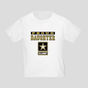 fb8aca58 Proud Army Daughter Toddler T-Shirts - CafePress