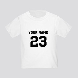 Customize sports jersey number Toddler T-Shirt