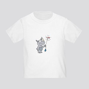 Cartoon Rhino Toddler T-Shirts - CafePress