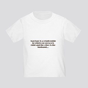 Marriage Toddler T-Shirt