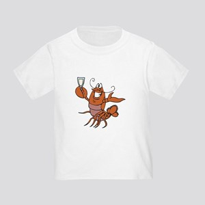 Toasting Wine Lobster Toddler T-Shirt