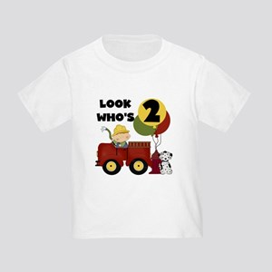 Fireman 2nd Birthday Toddler T-Shirt