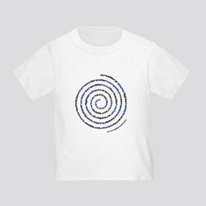 Spiral Wrestler Words Toddler T-Shirt