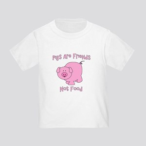 Pigs Are Friends Not Food Toddler T-Shirt