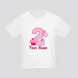 a84092c7 2nd Birthday Cupcake Toddler T-Shirt