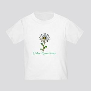 Personalized Daisy Toddler T-Shirt