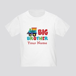 Big Brother Train Personalized Toddler T-Shirt