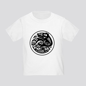Bear & Fish Native American Design Toddler T-Shirt