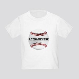 Personalized Baseball Red/White Toddler T-Shirt