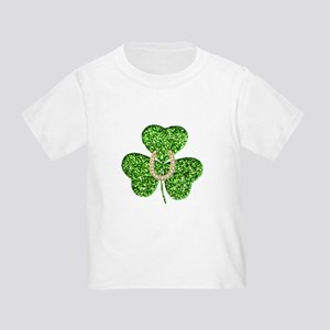 00cfd261 Glitter Shamrock And Horseshoe T-Shirt