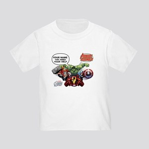 Avengers Assemble Personalized Des Toddler T-Shirt