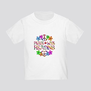 Peace Love Reading Toddler T-Shirt