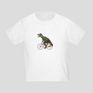 Cycling Tyrannosaurus Rex Toddler T-Shirt