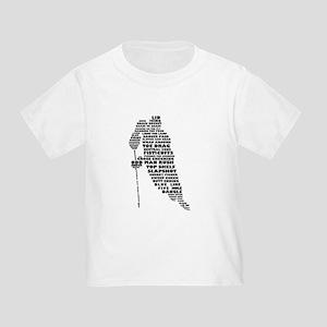 Language of Hockey (skater) Toddler T-Shirt
