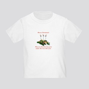 Fencing Christmas Toddler T-Shirt