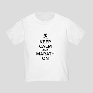 Keep calm and Marathon Toddler T-Shirt