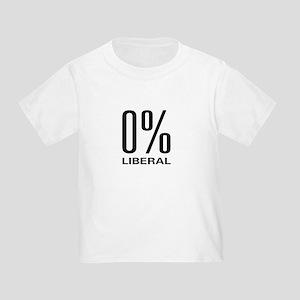 0% Liberal Toddler T-Shirt