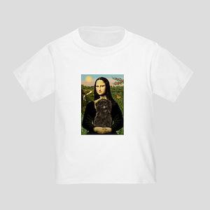 Mona Lisa & Affenpinscher Toddler T-Shirt