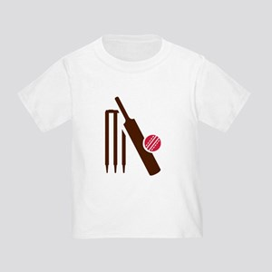 Cricket bat stumps Toddler T-Shirt