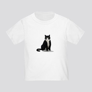 Black and White Tuxedo Cat Toddler T-Shirt